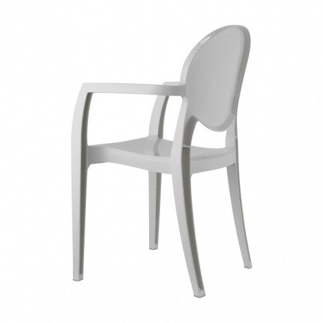 White Igloo chair in Technopolymer with armrests