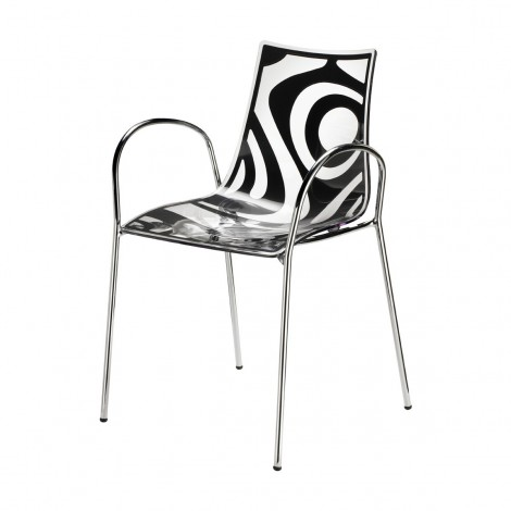 Wave black chair by Scab with armrests