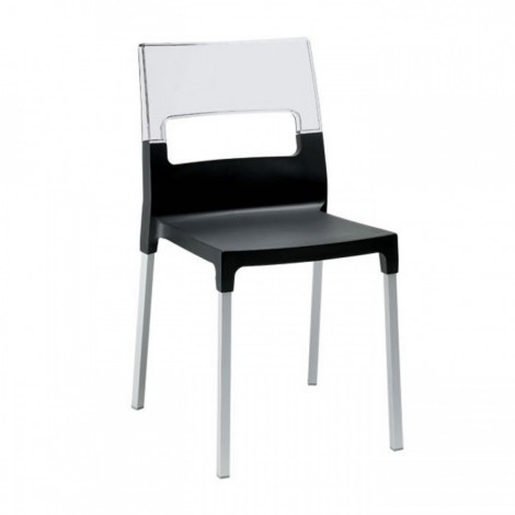 Diva black chair by Scab