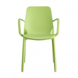 Ginevra green outdoor chair by Scab with armrests