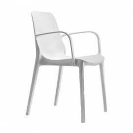 Ginevra outdoor chair by Scab with armrests