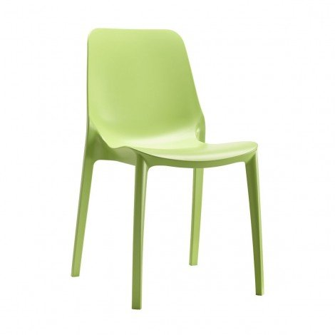 Ginevra chair for indoors and outdoors without armrests made of techno polymer available in several colors