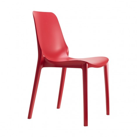 Ginevra red chair for indoors and outdoors by Scab