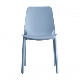 Light blue Ginevra chair for indoors and outdoors by Scab