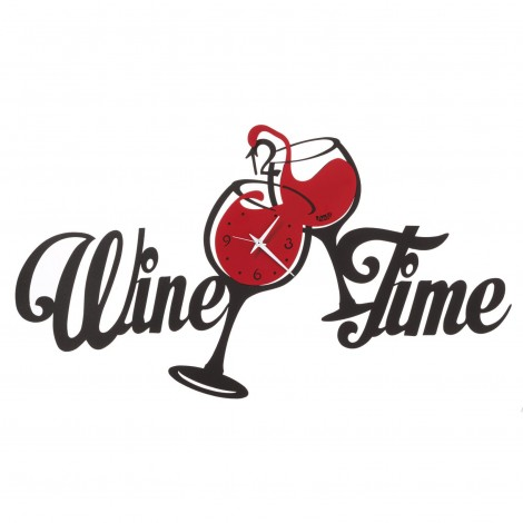 Wine Time wall clock by...