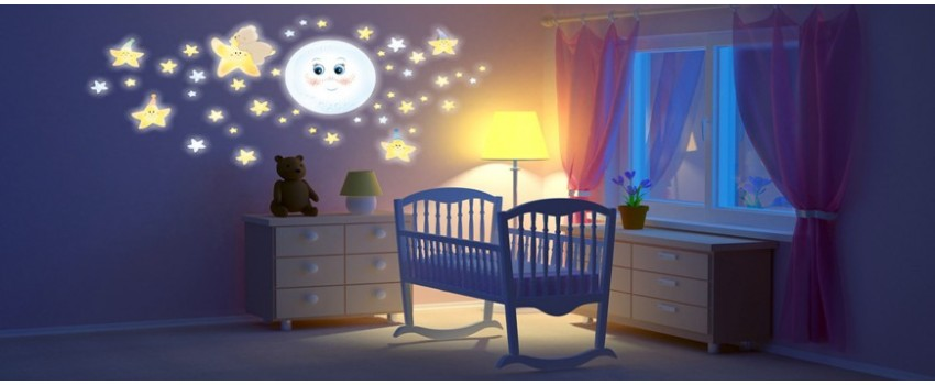 Sales online of lighting and toy holders for kids' bedrooms