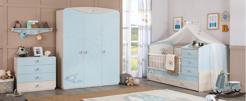 Cradles, changing tables and kids beds for the bedroom of your child