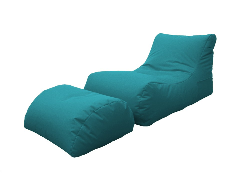 Chaise longue cushion for outdoor